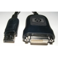 HP DisplayPort to DVI-D Adapter Cable FH973AT 481409-001