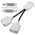 48P7585 LFH60 to dual DVI-I monitor pigtail
