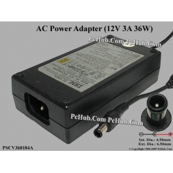 IBM PSCV360104A AC Adapter 36Watt 12V 3A